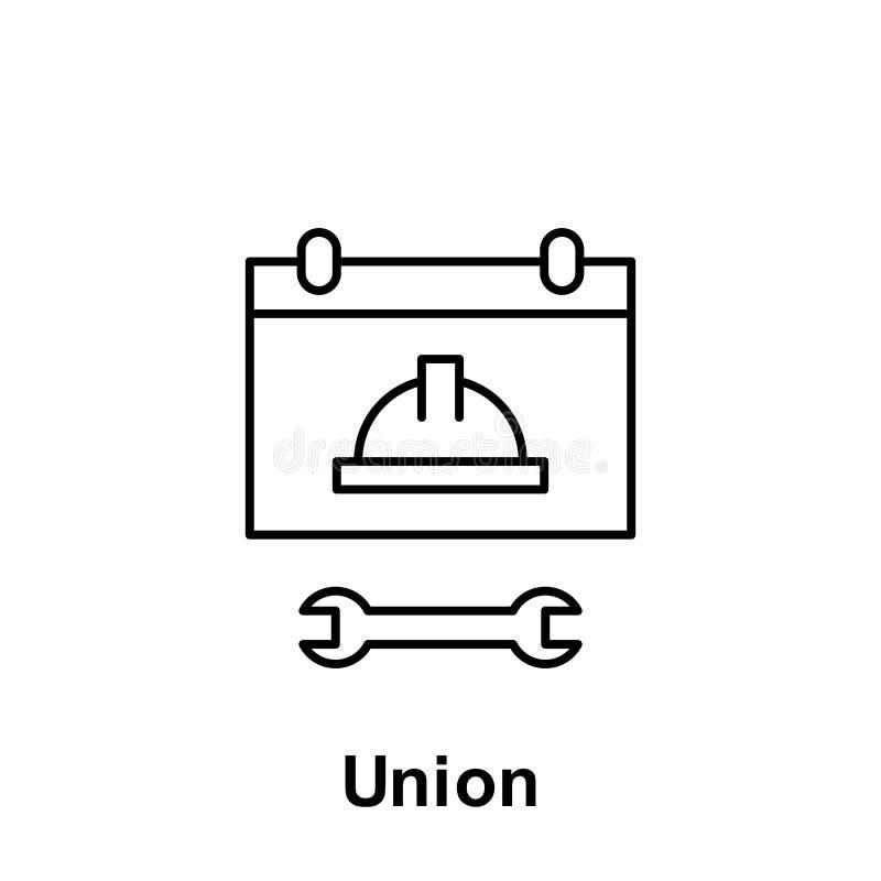 Εικονίδιο περιλήψεων ένωσης Στοιχείο του εικονιδίου απεικόνισης Εργατικής Ημέρας Τα σημάδια και τα σύμβολα μπορούν να χρησιμοποιη ελεύθερη απεικόνιση δικαιώματος