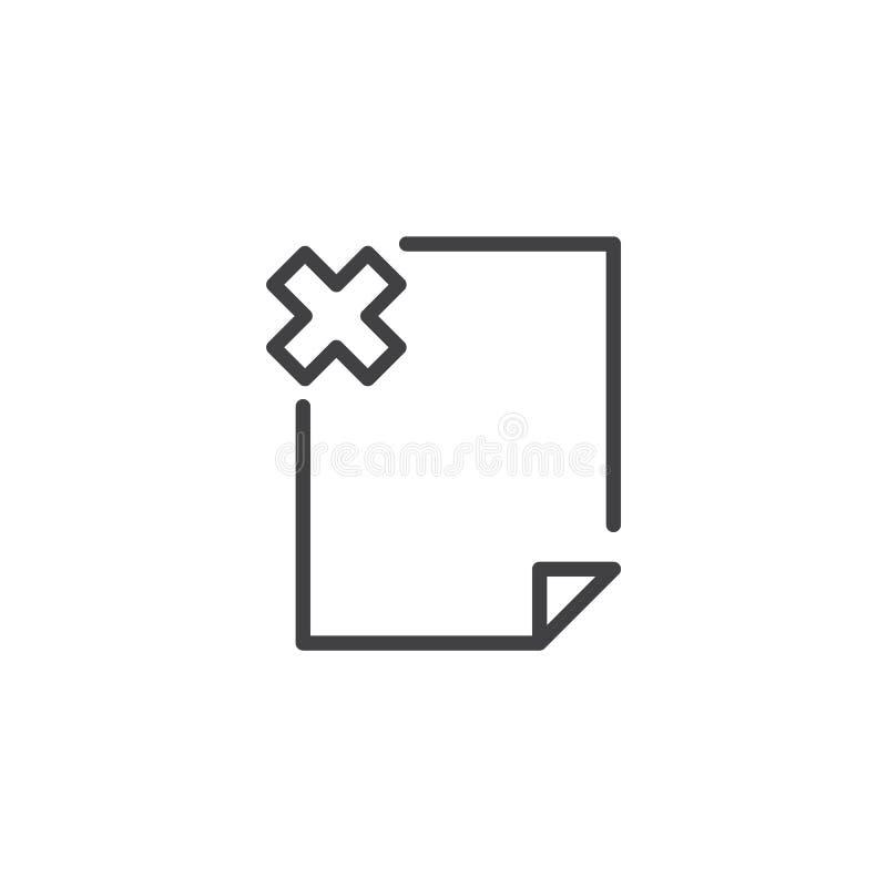 Εικονίδιο περιλήψεων αρχείων λάθους διανυσματική απεικόνιση