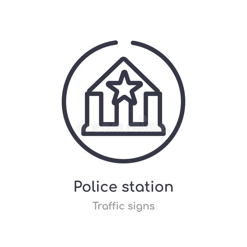 εικονίδιο περιλήψεων αστυνομικών τμημάτων r editable λεπτό αστυνομικό τμήμα κτυπήματος απεικόνιση αποθεμάτων