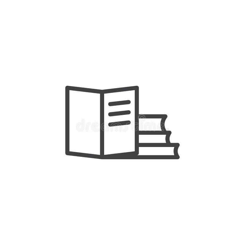 Εικονίδιο περιλήψεων βιβλίων απεικόνιση αποθεμάτων