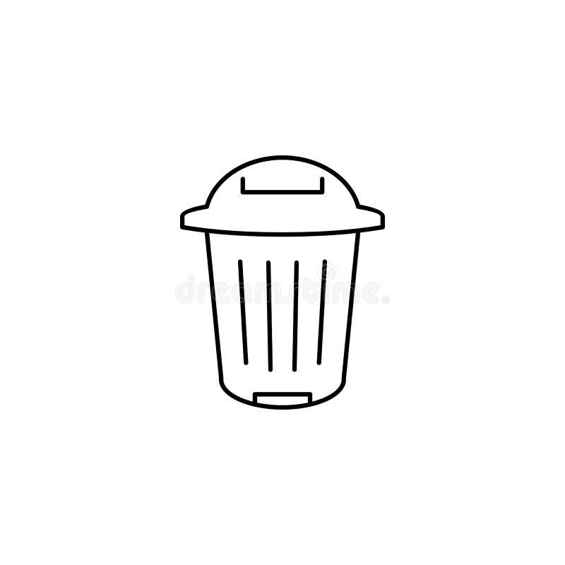 Εικονίδιο περιλήψεων δοχείων απορριμμάτων διανυσματική απεικόνιση