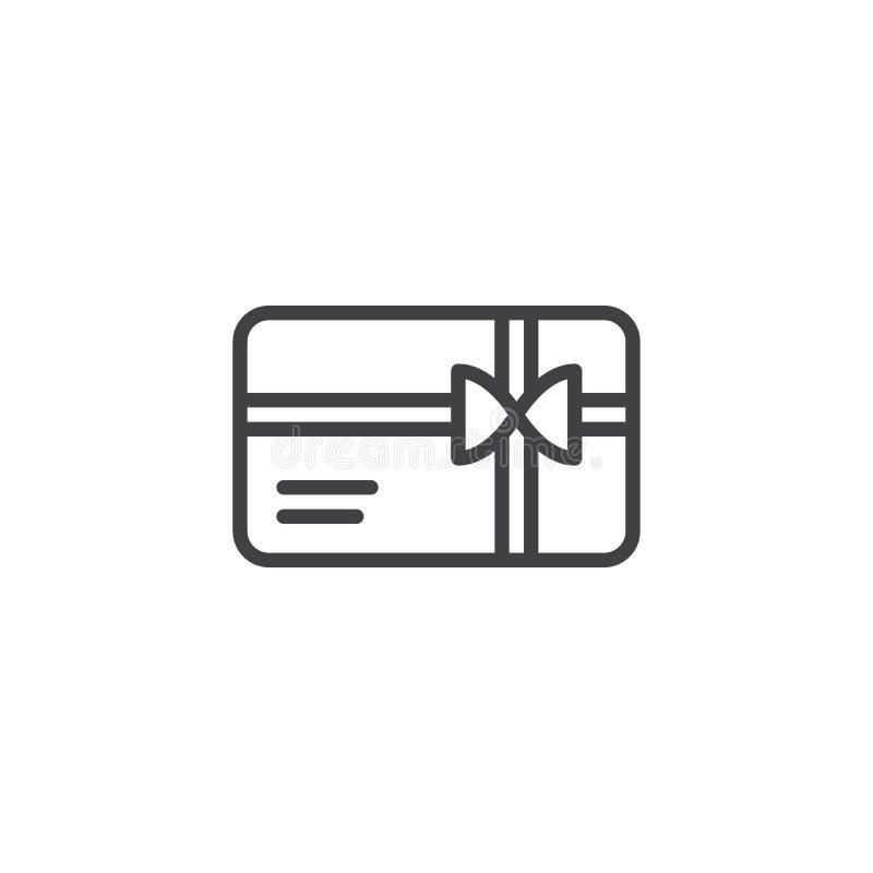 Εικονίδιο περιλήψεων καρτών δώρων αγορών απεικόνιση αποθεμάτων