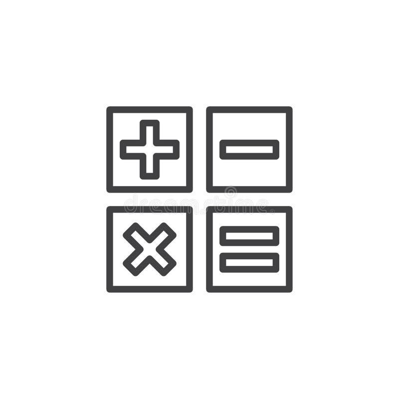 Εικονίδιο περιλήψεων κουμπιών υπολογιστών διανυσματική απεικόνιση
