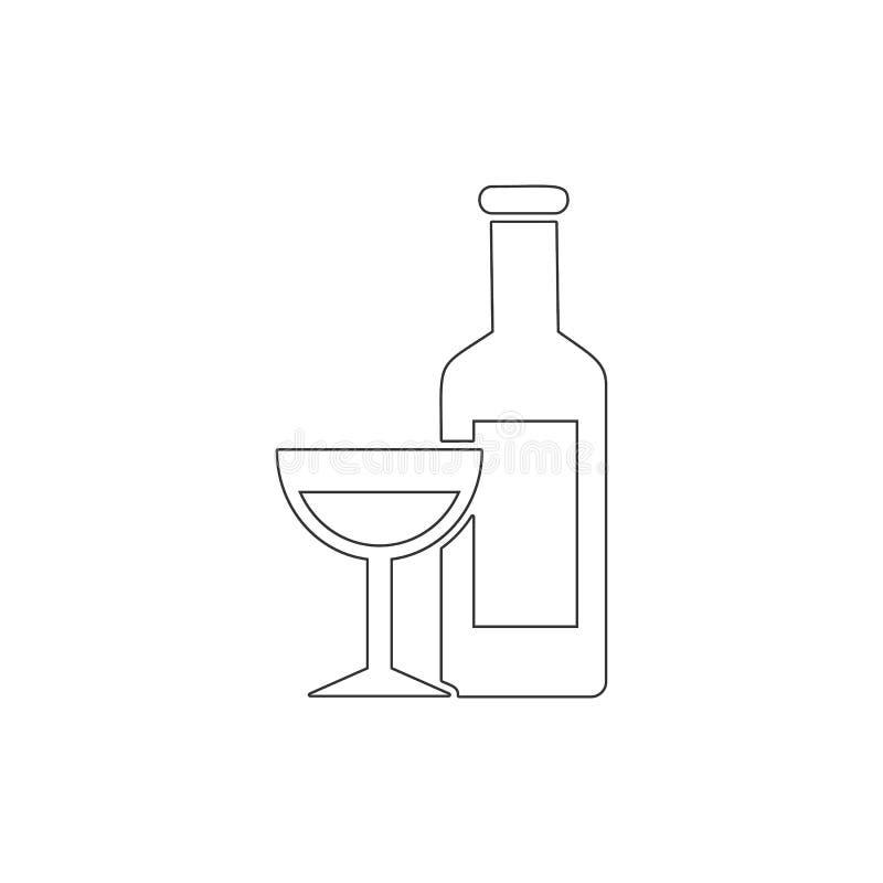 Εικονίδιο περιλήψεων κρασιού Στοιχεία του εικονιδίου απεικόνισης Πάσχας E απεικόνιση αποθεμάτων