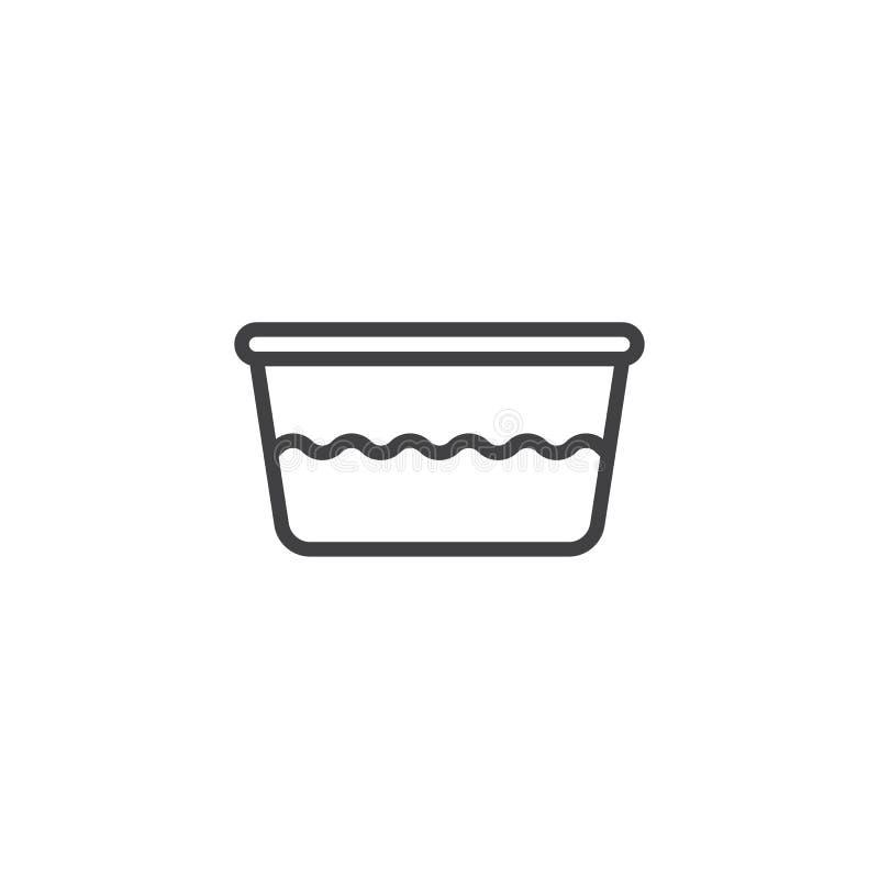 Εικονίδιο περιλήψεων λεκανών νερού απεικόνιση αποθεμάτων