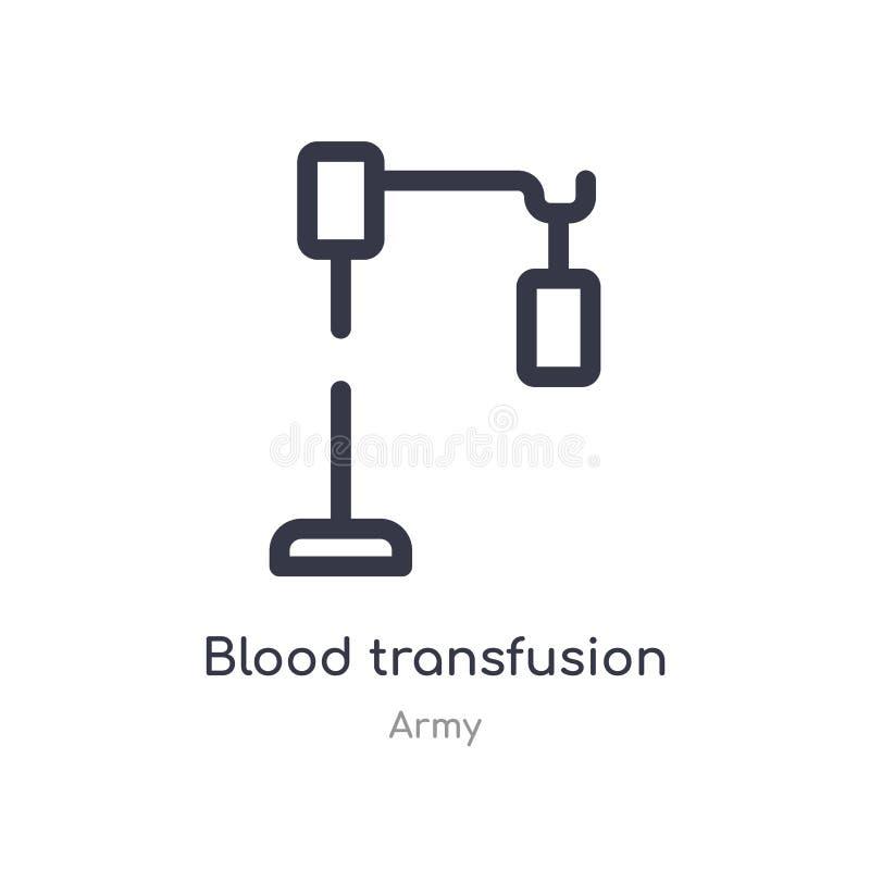 εικονίδιο περιλήψεων μετάγγισης αίματος απομονωμένη διανυσματική απεικόνιση γραμμών από τη συλλογή στρατού editable λεπτή μετάγγι ελεύθερη απεικόνιση δικαιώματος