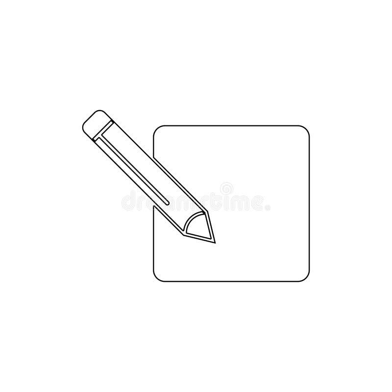 Εικονίδιο περιλήψεων μολυβιών μανδρών συντακτών επιλογής πηγών E διανυσματική απεικόνιση