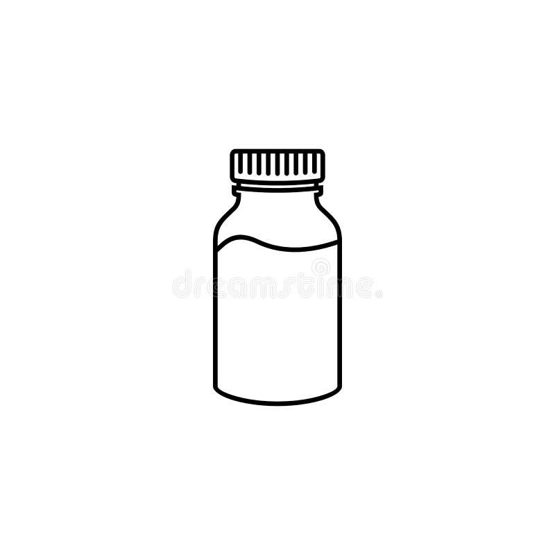 Εικονίδιο περιλήψεων μπουκαλιών γάλακτος ελεύθερη απεικόνιση δικαιώματος