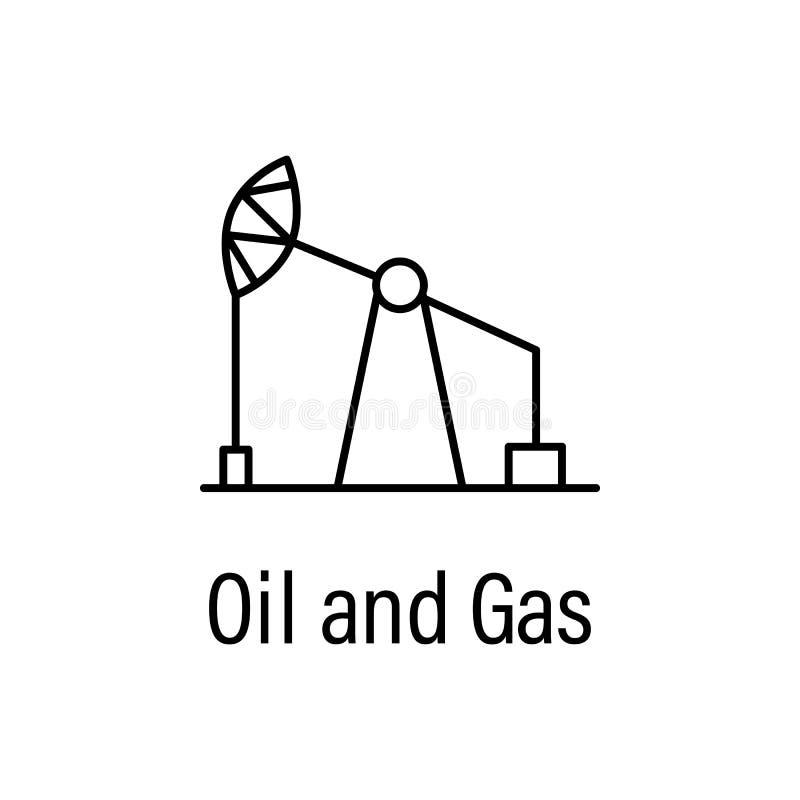εικονίδιο περιλήψεων πετρελαίου και φυσικού αερίου με το όνομα απεικόνιση αποθεμάτων