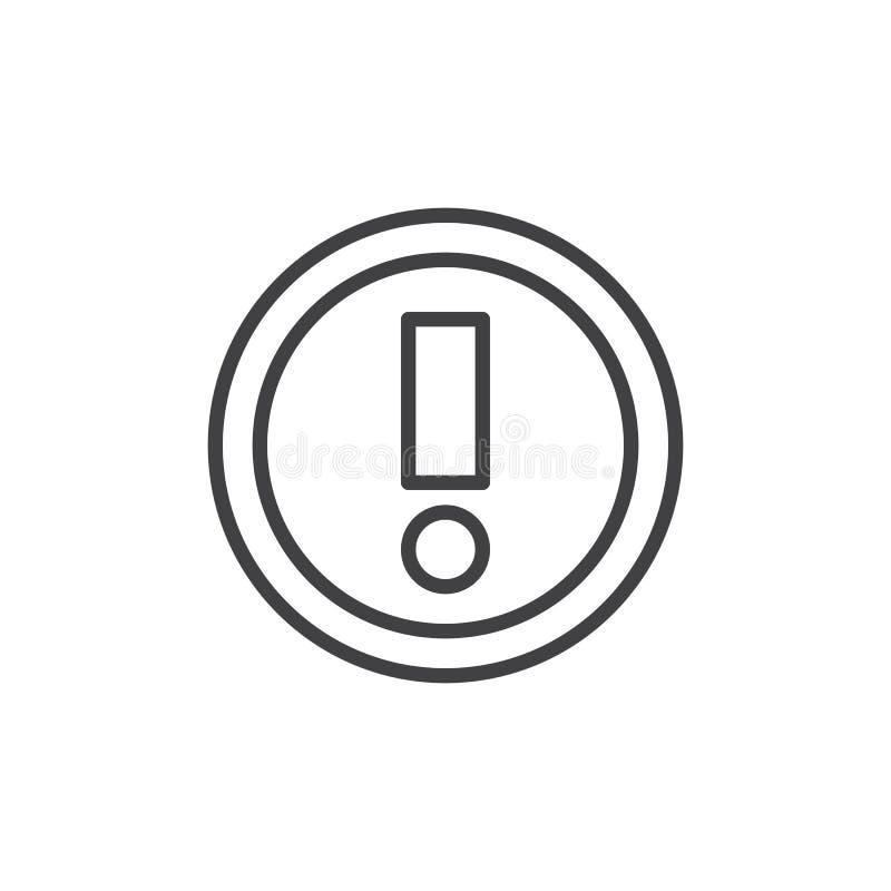 Εικονίδιο περιλήψεων προειδοποιητικών σημαδιών ελεύθερη απεικόνιση δικαιώματος