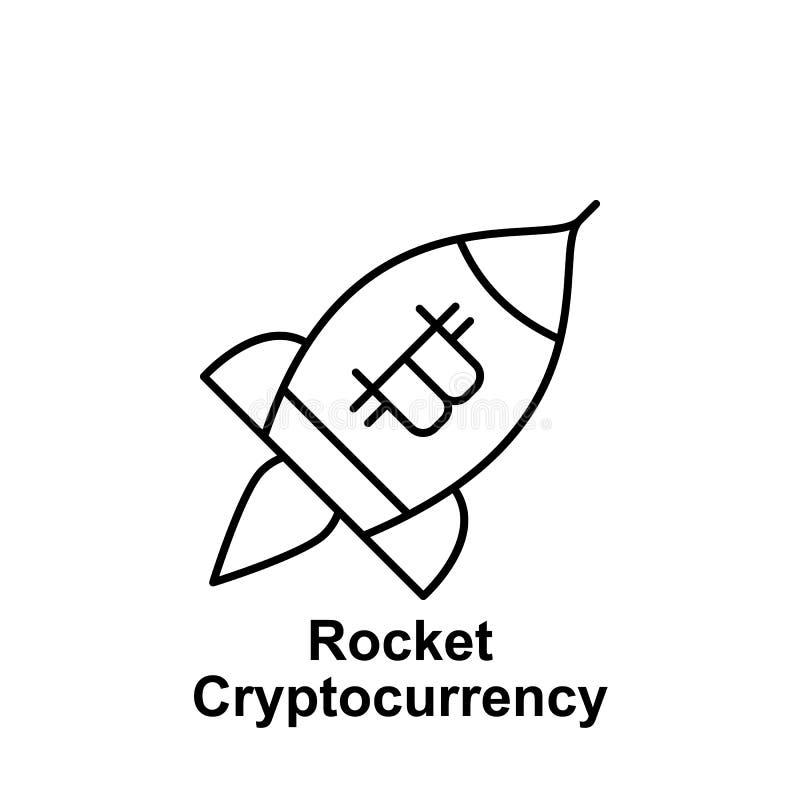 Εικονίδιο περιλήψεων πυραύλων Bitcoin Στοιχείο των εικονιδίων απεικόνισης bitcoin Τα σημάδια και τα σύμβολα μπορούν να χρησιμοποι απεικόνιση αποθεμάτων