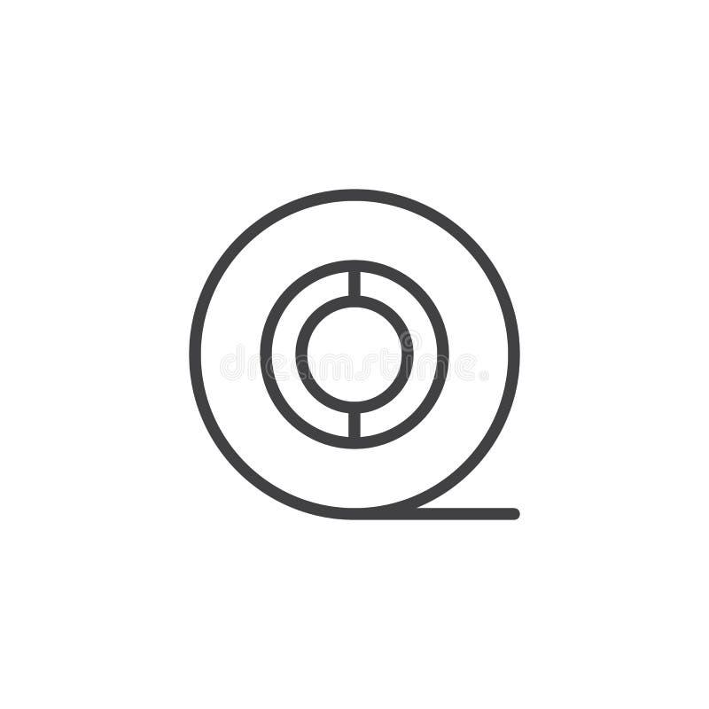 Εικονίδιο περιλήψεων ρόλων χαρτιού τουαλέτας διανυσματική απεικόνιση