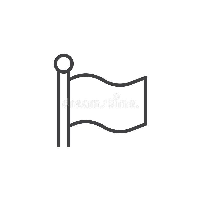 Εικονίδιο περιλήψεων σημαιών ελεύθερη απεικόνιση δικαιώματος