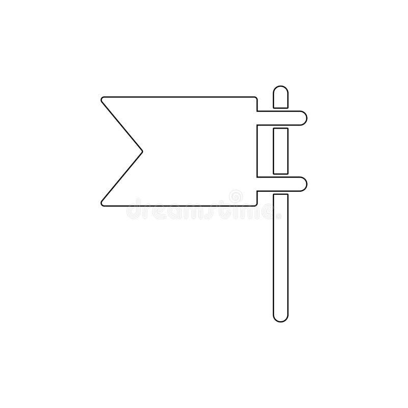 Εικονίδιο περιλήψεων σημαιών E απεικόνιση αποθεμάτων