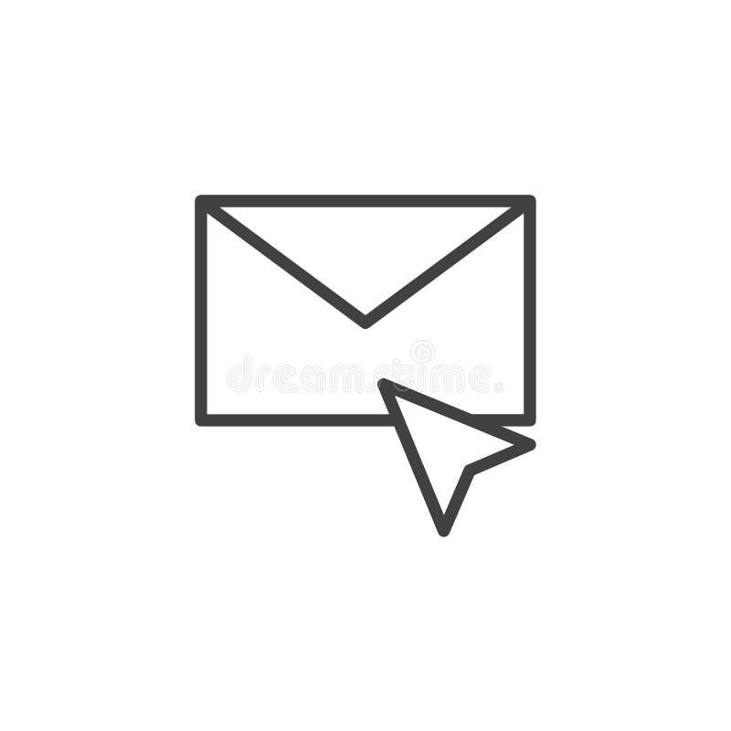 Εικονίδιο περιλήψεων ταχυδρομείου δρομέων και φακέλων ελεύθερη απεικόνιση δικαιώματος
