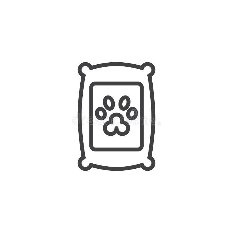 Εικονίδιο περιλήψεων τσαντών τροφίμων της Pet ελεύθερη απεικόνιση δικαιώματος