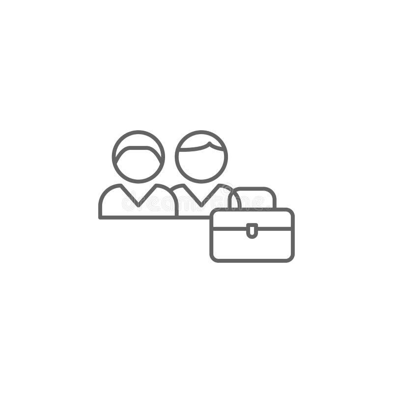 εικονίδιο περιλήψεων φιλίας συνεργασίας Στοιχεία του εικονιδίου γραμμών φιλίας Τα σημάδια, τα σύμβολα και τα διανύσματα μπορούν ν διανυσματική απεικόνιση