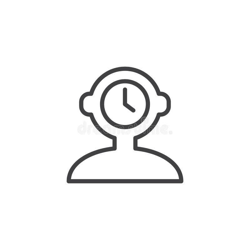 Εικονίδιο περιλήψεων χρονικής διαχείρισης απεικόνιση αποθεμάτων