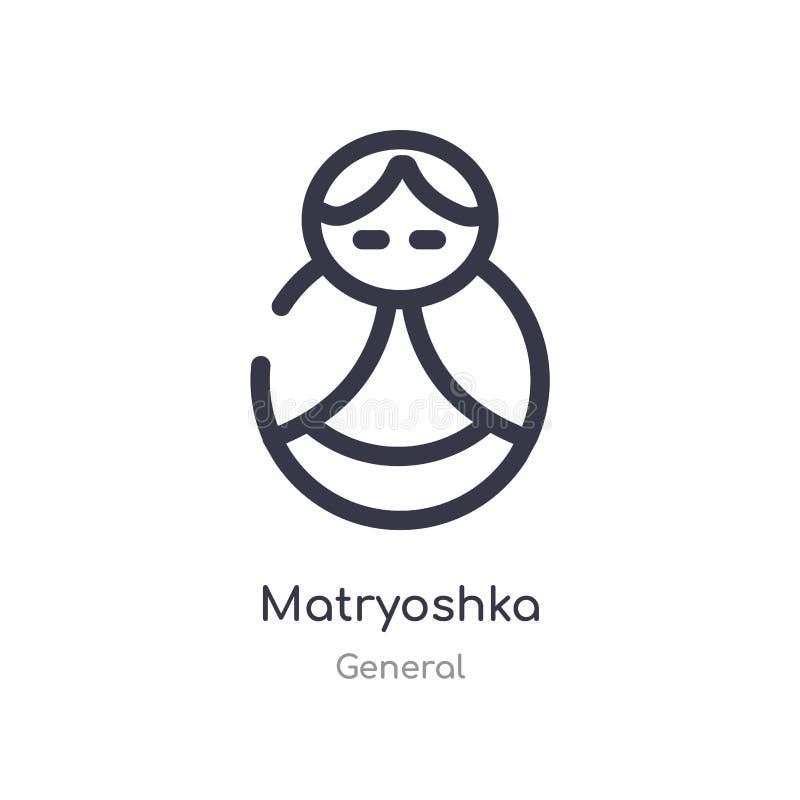 εικονίδιο περιλήψεων matryoshka απομονωμένη διανυσματική απεικόνιση γραμμών από τη γενική συλλογή editable λεπτό εικονίδιο matryo ελεύθερη απεικόνιση δικαιώματος