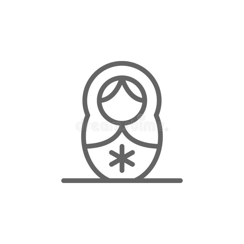 Εικονίδιο περιλήψεων matryoshka ημέρας μητέρων Στοιχείο του εικονιδίου απεικόνισης ημέρας μητέρων Τα σημάδια και τα σύμβολα μπορο διανυσματική απεικόνιση