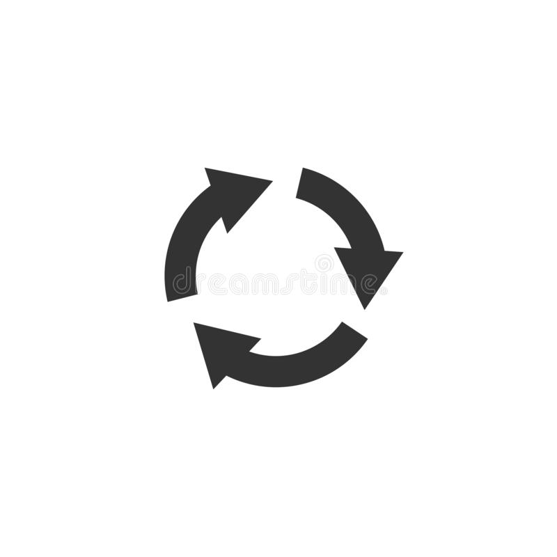 Εικονίδιο περιστροφής στο απλό σχέδιο r διανυσματική απεικόνιση