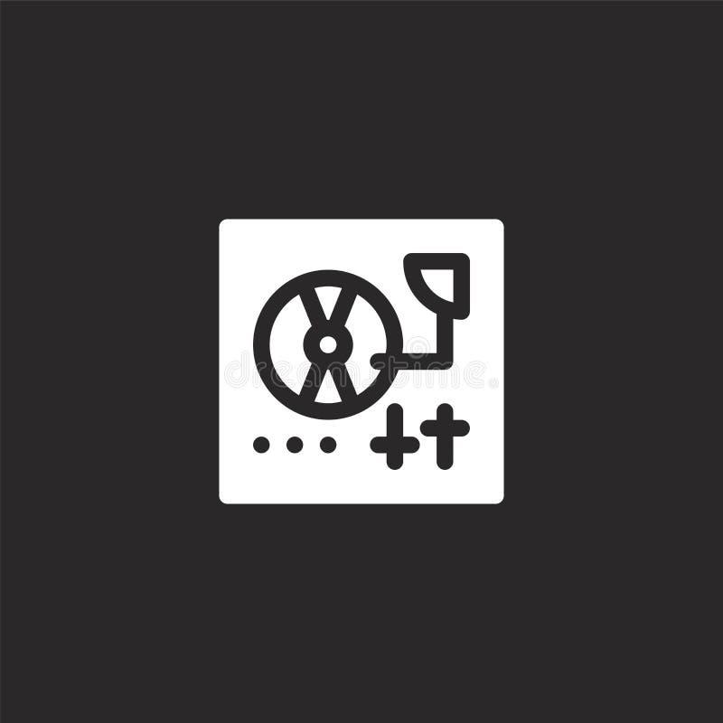 εικονίδιο περιστροφικών πλακών Γεμισμένο εικονίδιο περιστροφικών πλακών για το σχέδιο ιστοχώρου και κινητός, app ανάπτυξη εικονίδ απεικόνιση αποθεμάτων