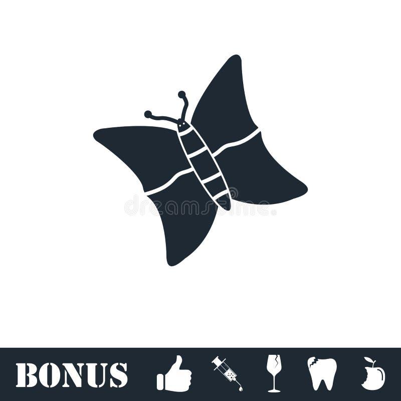 Εικονίδιο πεταλούδων επίπεδο διανυσματική απεικόνιση