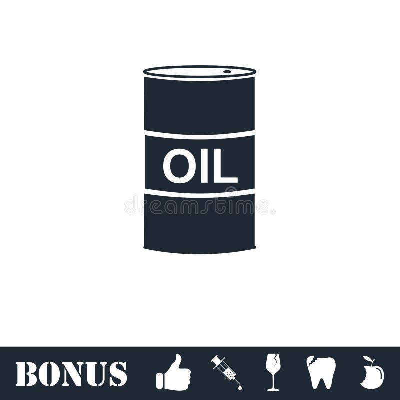 Εικονίδιο πετρελαίου βαρελιών επίπεδο ελεύθερη απεικόνιση δικαιώματος