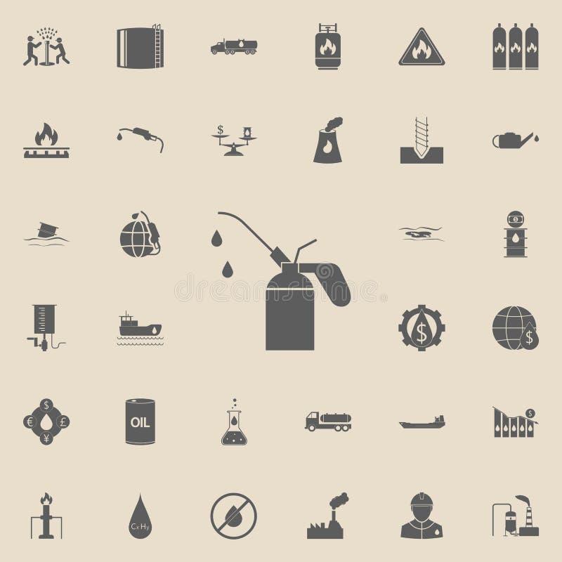 εικονίδιο πετρελαίου μηχανών Καθολικό εικονιδίων πετρελαίου που τίθεται για τον Ιστό και κινητό διανυσματική απεικόνιση