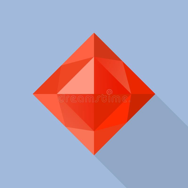 Εικονίδιο πετρών γρανατών, επίπεδο ύφος απεικόνιση αποθεμάτων
