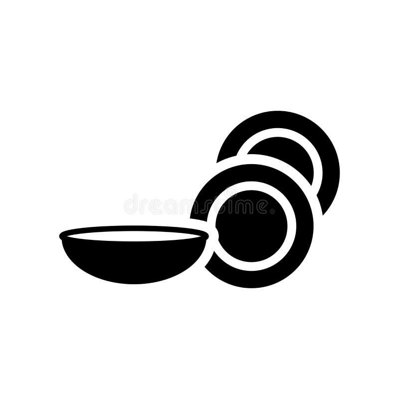 εικονίδιο πιάτων  διανυσματική απεικόνιση