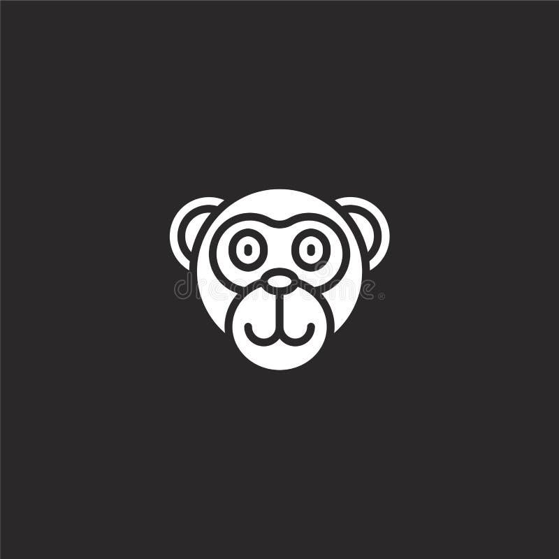 εικονίδιο πιθήκων Γεμισμένο εικονίδιο πιθήκων για το σχέδιο ιστοχώρου και κινητός, app ανάπτυξη εικονίδιο πιθήκων από τη γεμισμέν ελεύθερη απεικόνιση δικαιώματος
