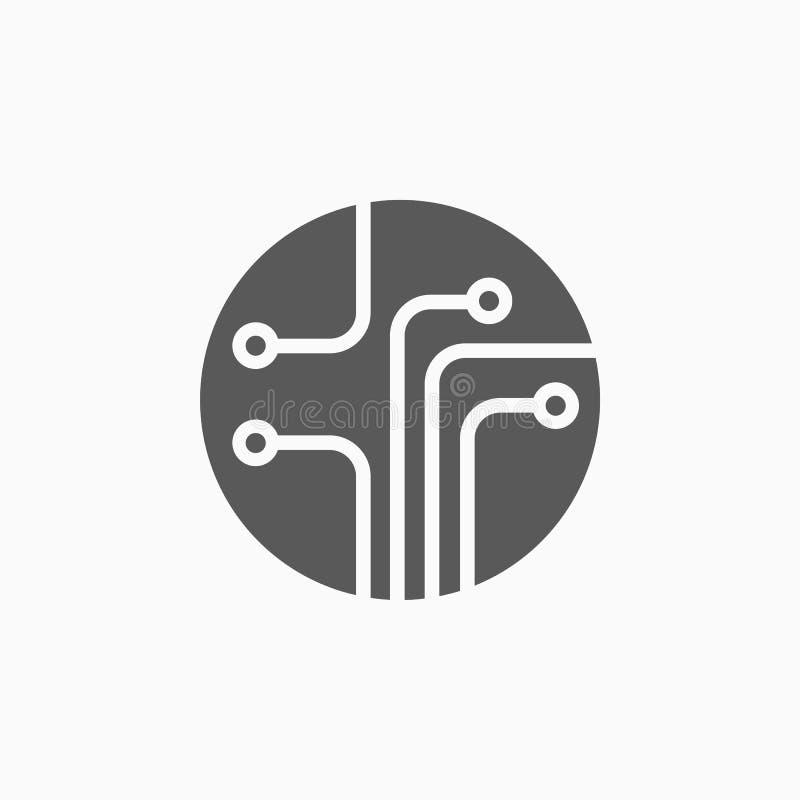 Εικονίδιο πινάκων κυκλωμάτων, υπολογιστής, ηλεκτρικός, τεχνολογία απεικόνιση αποθεμάτων