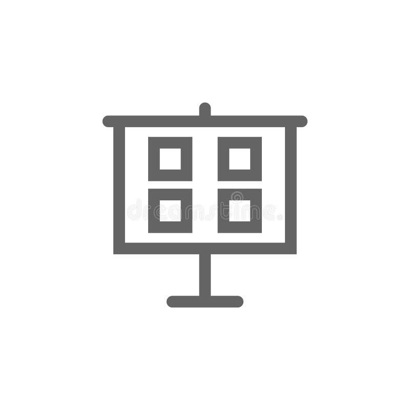 Εικονίδιο πινάκων παρουσίασης Στοιχείο του απλού εικονιδίου ελεύθερη απεικόνιση δικαιώματος