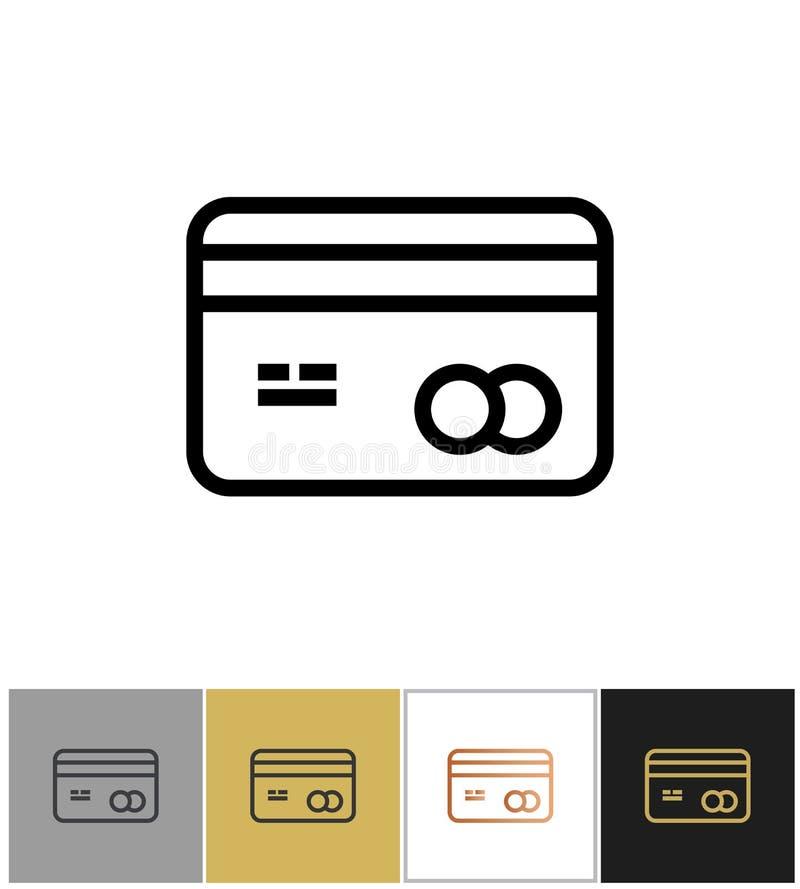 Εικονίδιο πιστωτικών καρτών, σημάδι πιστωτικών καρτών τραπεζών αγορών αγορών απεικόνιση αποθεμάτων