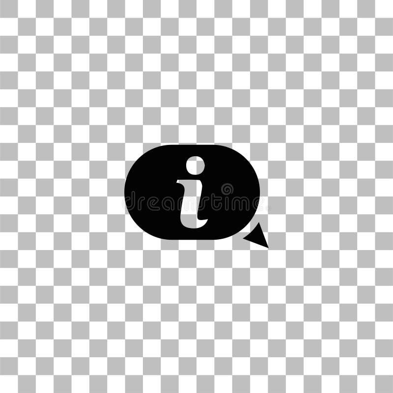 Εικονίδιο πληροφοριών επίπεδο απεικόνιση αποθεμάτων