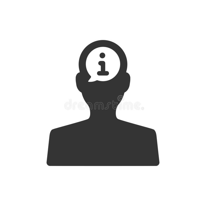Εικονίδιο πληροφοριών χρηστών διανυσματική απεικόνιση