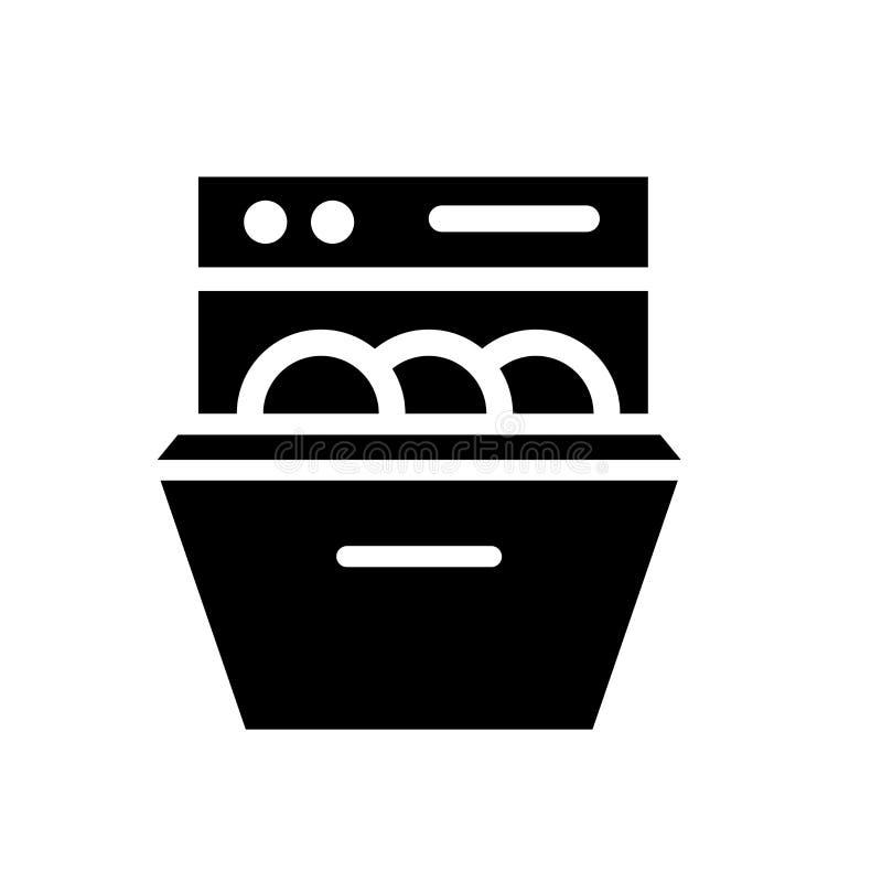Εικονίδιο πλυντηρίων πιάτων  διανυσματική απεικόνιση