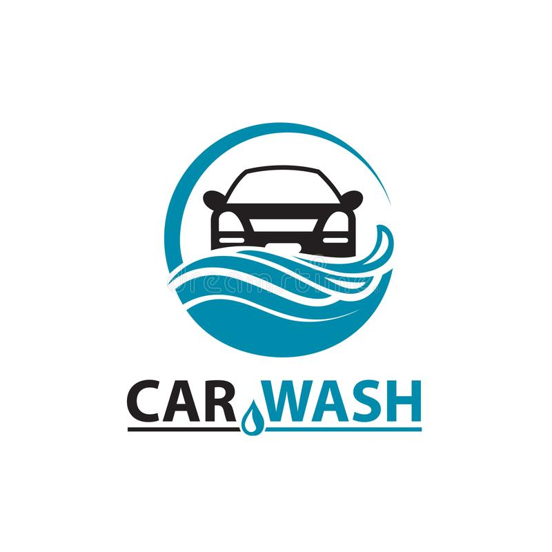Εικονίδιο πλυσίματος αυτοκινήτων απεικόνιση αποθεμάτων
