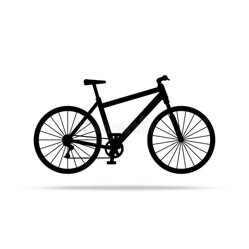 Εικονίδιο ποδηλάτων Διάνυσμα ποδηλάτων που απομονώνεται στο άσπρο υπόβαθρο διανυσματική απεικόνιση