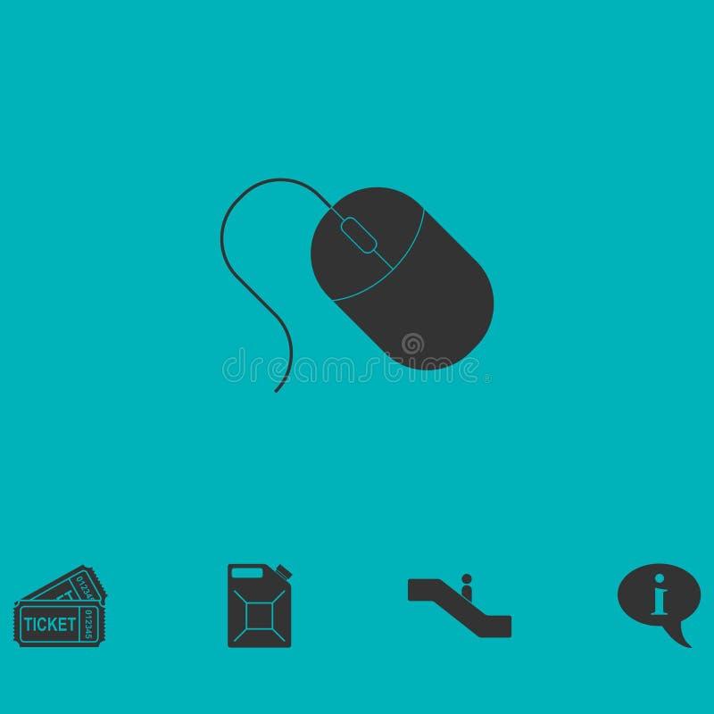 Εικονίδιο ποντικιών υπολογιστών επίπεδο απεικόνιση αποθεμάτων