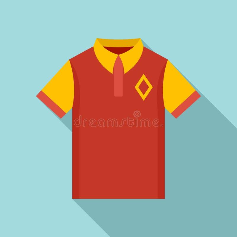 Εικονίδιο πουκάμισων πόλο μπέιζ-μπώλ, επίπεδο ύφος απεικόνιση αποθεμάτων