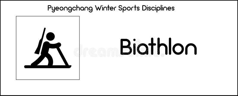 Εικονίδιο που απεικονίζει την πειθαρχία Biathlon των παιχνιδιών χειμερινού αθλητισμού σε Pye ελεύθερη απεικόνιση δικαιώματος