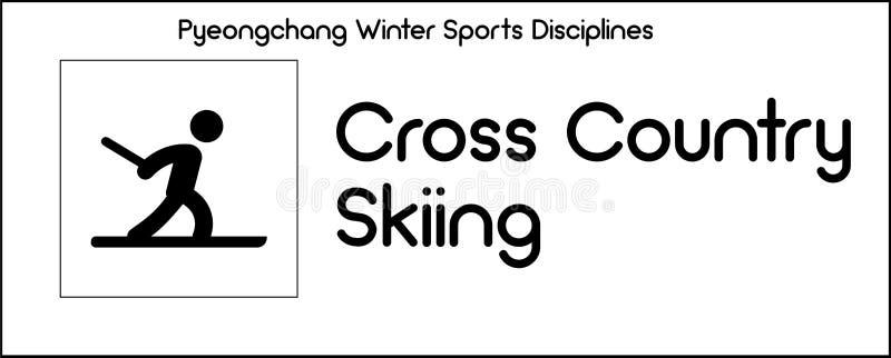 Εικονίδιο που απεικονίζει τη διαγώνια να κάνει σκι χώρας πειθαρχία του χειμερινού αθλητισμού ελεύθερη απεικόνιση δικαιώματος