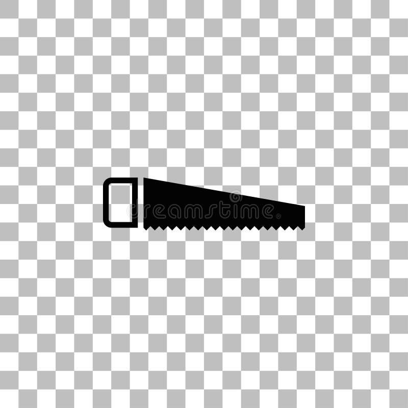 Εικονίδιο πριονιών επίπεδο διανυσματική απεικόνιση