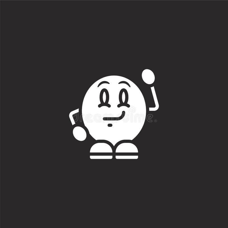εικονίδιο προσποιητών χαμόγελων Γεμισμένο εικονίδιο προσποιητών χαμόγελων για το σχέδιο ιστοχώρου και κινητός, app ανάπτυξη εικον διανυσματική απεικόνιση