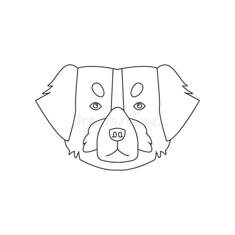 Εικονίδιο προσώπου του ST Bernard Στοιχείο του σκυλιού για το κινητό εικονίδιο έννοιας και Ιστού apps r διανυσματική απεικόνιση