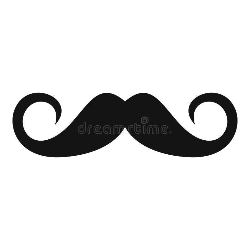 Εικονίδιο προσώπων mustache, απλό ύφος ελεύθερη απεικόνιση δικαιώματος