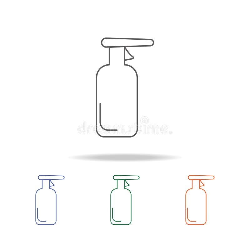 Εικονίδιο προϊόντων καθαρισμού Στοιχείο του πολυ χρωματισμένου εικονιδίου εργαλείων λουτρών για την κινητούς έννοια και τον Ιστό  απεικόνιση αποθεμάτων