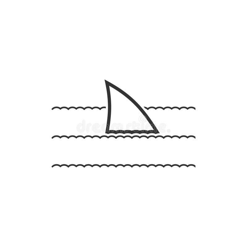 Εικονίδιο πτερυγίων καρχαριών επίπεδο ελεύθερη απεικόνιση δικαιώματος